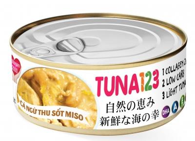 Cá ngừ sốt miso nhật bản